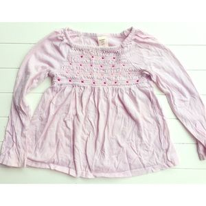 Old Navy Girls Long Sleeve Smocked Tee, 4T
